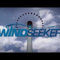 Video and photos of Windseeker, a 301-ft-tall spinning swing, opening at Carowinds in 2012