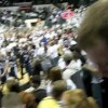 Charlotte 49er fans rush court after win over #17 Xavier